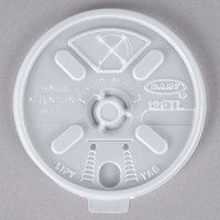 Dart 12FTLS Translucent Lift' n 'Lock Lid with Straw Slot - 1000/Case
