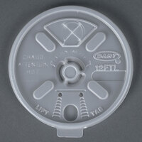 Dart Solo 12FTLS Translucent Lift' n 'Lock Lid with Straw Slot - 1000/Case