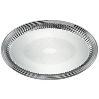 Vollrath 82172 Esquire 17 1/2 inch x 13 inch Oval Fluted Stainless Steel Tray
