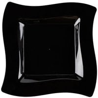 Fineline Wavetrends 110-BK 10 3/4 inch Black Plastic Square Plate - 10 / Pack
