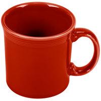 Homer Laughlin 570326 Fiesta Scarlet 12 oz. Java Mug - 12 / Case