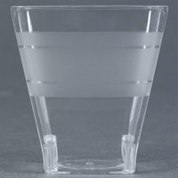 Fineline Wavetrends 1102 Clear Plastic Shot Glass 2 oz. - 18/Pack