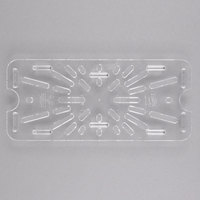 Carlisle 3067007 StorPlus 1/3 Size Clear Polycarbonate Drain Tray