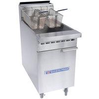 Bakers Pride BPF-6575 Restaurant Series Liquid Propane 65-75 lb. Floor Fryer - 152,000 BTU