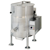 Cleveland KGL-25 Liquid Propane 25 Gallon Stationary 2/3 Steam Jacketed Kettle - 90,000 BTU