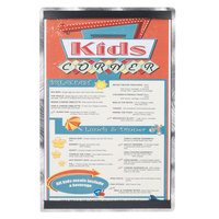 11 inch x 17 inch Menu Solutions ALSIN17-ST Single Panel Swirl Finish Aluminum Menu Board with Top and Bottom Strips