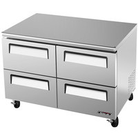 Turbo Air TUF-48SD-D4 Super Deluxe 48 inch Undercounter Freezer with Drawers- 12 Cu. Ft.
