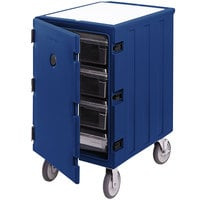 Cambro 1826LBC186 Camcart Navy Blue Single Compartment Mobile Cart for 18 inch x 26 inch Food Storage Boxes