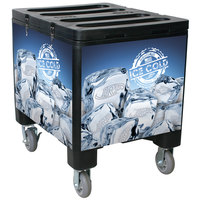 Black Ice Caddy 200 lb. Mobile Ice Bin / Beverage Merchandiser
