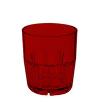 GET 9909-1-R 9 oz. Red Break-Resistant Plastic Bahama Tumbler - 72 / Case