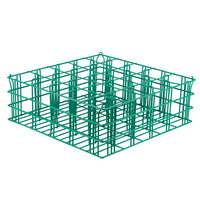 16 Compartment Catering Glassware Basket - 2 3/8 inch x 2 3/8 inch x 4 1/8 inch Compartments