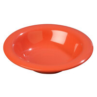 Carlisle 3304052 Sierrus 6 oz. 6 inch Sunset Orange Rimmed Melamine Bowl - 48/Case