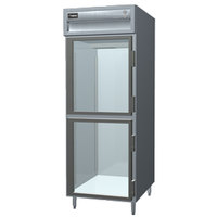 Delfield Stainless Steel SSH1-GH 24.96 Cu. Ft. Glass Half Door Single Section Reach In Heated Holding Cabinet - Specification Line