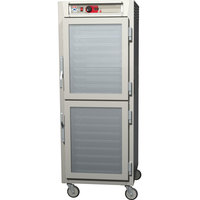 Metro C589-SDC-UPDS C5 8 Series Reach-In Pass-Through Heated Holding Cabinet - Dutch Solid / Dutch Clear Doors