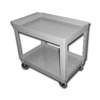 Continental 5805GY 40 inch x 25 inch Gray Utility Cart with 2-Shelf Recessed Top