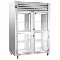 Traulsen RHT232NPUT-HHG Stainless Steel 48.3 Cu. Ft. Two Section Glass Half Door Narrow Pass-Through Refrigerator - Specification Line