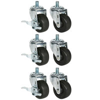 Beverage Air 61C01-012A 3 inch Replacement Casters for DP119, UCR119A and WTR119A - 6 / Set