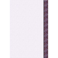8 1/2 inch x 11 inch Menu Paper Right Insert - Purple Woven Border - 100/Pack