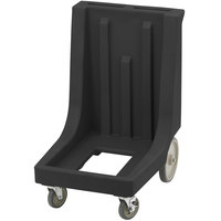 Cambro CD300HB Black Camdolly for Cambro Camcarriers and Camtainers with Handle & Rear Easy Wheels