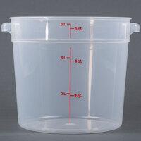 Cambro RFS6PP190 6 Qt. Translucent Round Storage Container