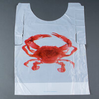 Royal Paper PB24 Disposable Poly Crab Bib - 500/Box
