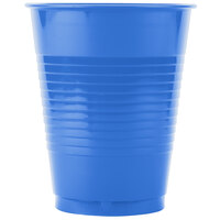 Creative Converting 28145081B 16 oz. True Blue Plastic Cup - 50 / Pack