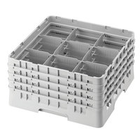 Cambro 9S1114151 Soft Gray Camrack 9 Compartment 11 3/4 inch Glass Rack