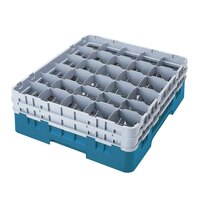 Cambro 30S800414 Teal Camrack 30 Compartment 8 1/2 inch Glass Rack