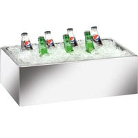 Cal-Mil 473-12-24 Mirror Finish Acrylic Ice Housing with Clear Pan - 20 inch x 12 inch x 6 inch