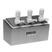Cecilware 344S Super Pumps Stainless Steel Condiment Rail with Three Plastic Pumps, Jars, and Covers