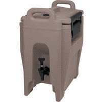 Cambro UC250194 Granite Sand Ultra Camtainer 2.75 Gallon Insulated Beverage Dispenser