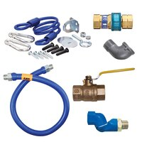 48 inch Dormont 16100BPQSR SwivelMAX Gas Connector Kit with Coiled Restraining Device - 1 inch Diameter