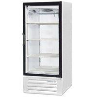 Beverage Air LV10-1-W White LumaVue 24 inch Refrigerated Glass Door Merchandiser - 10 Cu. Ft.