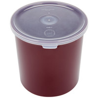 Carlisle 030101 1.2 Qt. Brown Classic Crock with Lid - 12/Case