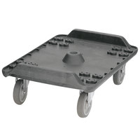 Carlisle MY41003 Cateraide Black Dolly with 5 inch Standard Casters for MY400 End Loading Pan Carriers