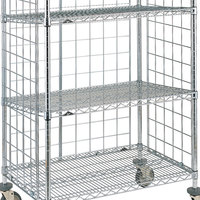 Metro SLT2460NC Super Erecta Chrome Slanted Shelf for AST65MC and AST65DC Shelf Trucks - 24 inch x 60 inch