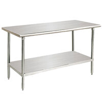 14 Gauge Advance Tabco Premium Series SS-304 30 inch x 48 inch  Stainless Steel Commercial Work Table with Undershelf