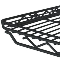 Metro 2436Q-DBM qwikSLOT Black Matte Wire Shelf - 24 inch x 36 inch
