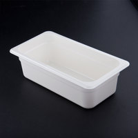 Cambro 44CW148 White Camwear 4 inch Deep Quarter Size Food Pan