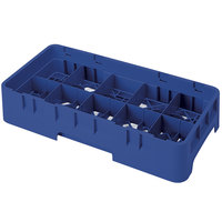 Cambro 10HS1114186 Navy Blue Camrack 10 Compartment 11 3/4 inch Half Size Glass Rack