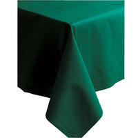 Hoffmaster 220833 50 inch x 108 inch Linen-Like Hunter Green Table Cover - 20 / Case