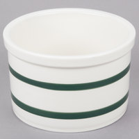 CAC JAR-8 Green Striped China Bain Marie Jar 80 oz. - 6/Case