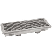 Advance Tabco FFTG-1296 12 inch x 96 inch Floor Trough with Fiberglass Grating