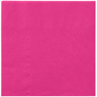 Hoffmaster 180332 Raspberry Pink Beverage / Cocktail Napkin   - 250/Pack