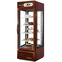 True G4SM-23PT-LD Bronze Pass-Through Four Sided Glass Door Refrigerator Merchandiser with Front Sign - 23 Cu. Ft.