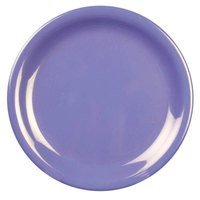 7 1/4 inch Purple Narrow Rim Melamine Plate 12 / Pack