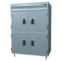 Delfield SAH2N-SH 43.94 Cu. Ft. Solid Half Door Two Section Narrow Reach In Heated Holding Cabinet - Specification Line