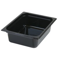 Carlisle 10221B03 StorPlus 1/2 Size Black Food Pan - 4 inch Deep