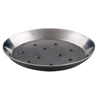 American Metalcraft TDEP16P 16 inch x 1 inch Deep Dish Tapered Perforated Pizza Pan - Tin Plated Steel