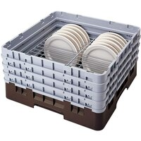 Cambro CRP2046 Brown Full Size PlateSafe Camrack 4-6 inch